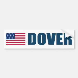 Bandera de Dover los E.E.U.U. Pegatina Para Auto