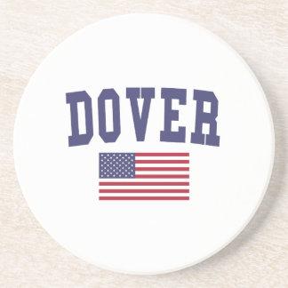 Bandera de Dover los E.E.U.U. Posavasos Cerveza