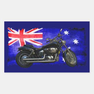Bandera de Downunder del australiano, diseño del Pegatina Rectangular