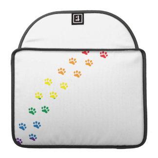 Bandera de Doxie del orgullo gay Fundas Para Macbooks
