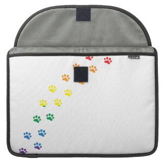 Bandera de Doxie del orgullo gay Fundas Macbook Pro