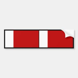 Bandera de Dubai Pegatina De Parachoque