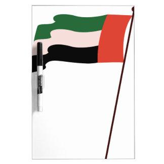 Bandera de Dubai Tablero Blanco