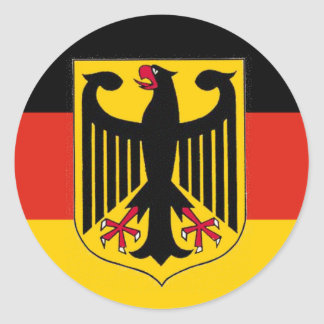 Bandera de Eagle del alemán Etiquetas Redondas