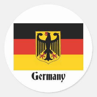 Bandera de Eagle del alemán Pegatinas Redondas