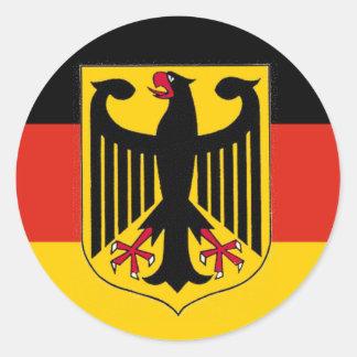 Bandera de Eagle del alemán Pegatina Redonda