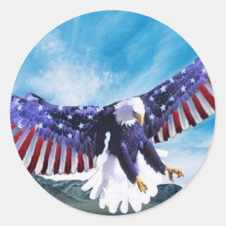 Bandera de Eagle Pegatina