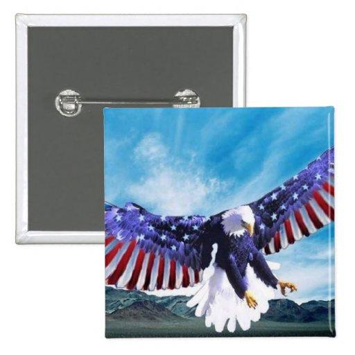Bandera de Eagle Pin Cuadrada 5 Cm
