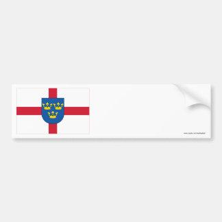 Bandera de East Anglia Pegatina Para Auto