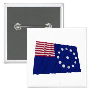 Bandera de Easton Pin Cuadrada 5 Cm