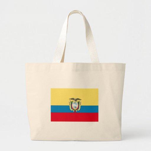 Bandera de Ecuador Bolsa Tela Grande