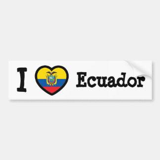 Bandera de Ecuador Etiqueta De Parachoque