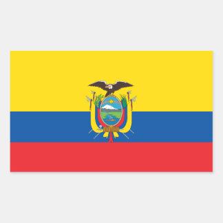 Bandera de Ecuador/del Ecuadorian Rectangular Pegatina