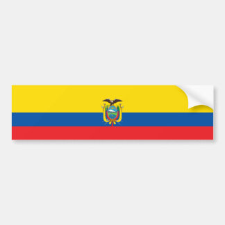 Bandera de Ecuador/del Ecuadorian Pegatina Para Auto