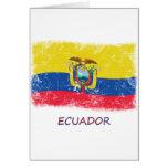 Bandera de Ecuador del Grunge Tarjeta