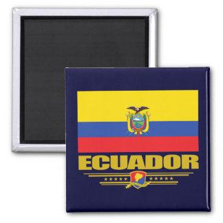 Bandera de Ecuador Imán Cuadrado
