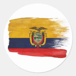 Bandera de Ecuador Etiquetas Redondas