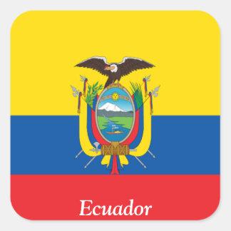 Bandera de Ecuador Pegatina Cuadrada