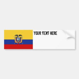 Bandera de Ecuador Pegatina Para Auto