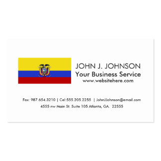 Bandera de Ecuador Tarjetas De Visita