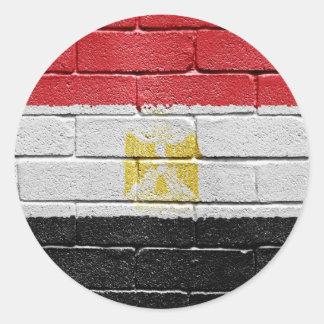 Bandera de Egipto Etiquetas Redondas