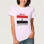 Bandera de Egipto + Mapa + Camiseta del texto Playeras