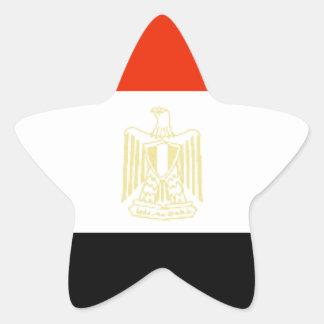Bandera de Egipto Calcomanías Forma De Estrellas Personalizadas