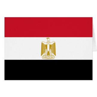 Bandera de Egipto Tarjeta De Felicitación
