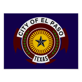 Bandera de El Paso Póster