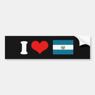 Bandera de El Salvador Pegatina De Parachoque