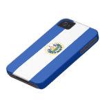 Bandera de El Salvador Case-Mate iPhone 4 Fundas