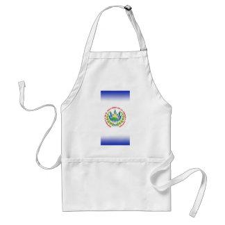 bandera de El Salvador Delantal