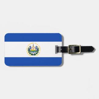Bandera de El Salvador, escudo de armas nacional Etiquetas Maleta