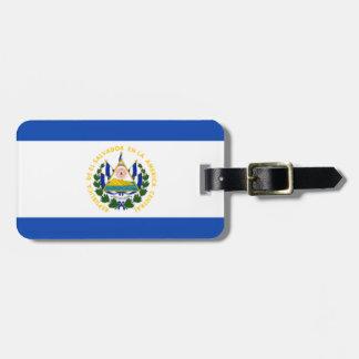 Bandera de El Salvador, escudo de armas nacional Etiquetas Para Maletas