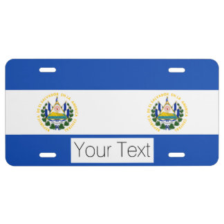 Bandera de El Salvador, escudo de armas nacional Placa De Matrícula