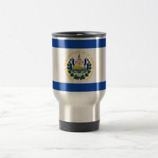 Bandera de El Salvador, escudo de armas nacional Taza De Viaje