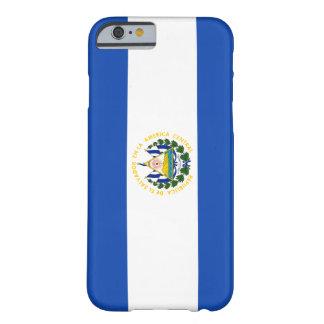 Bandera de El Salvador Funda De iPhone 6 Barely There