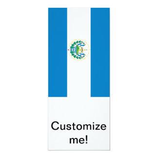"""Bandera de El Salvador Invitación 4"""" X 9.25"""""""