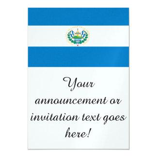 """Bandera de El Salvador Invitación 5"""" X 7"""""""