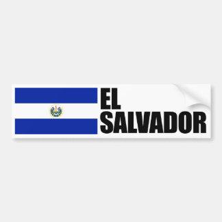 Bandera de El Salvador Pegatina Para Auto