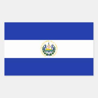 Bandera de El Salvador Pegatina Rectangular