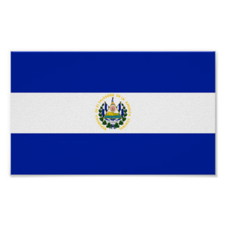 Bandera de El Salvador Póster