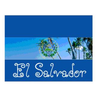Bandera de El Salvador Tarjetas Postales