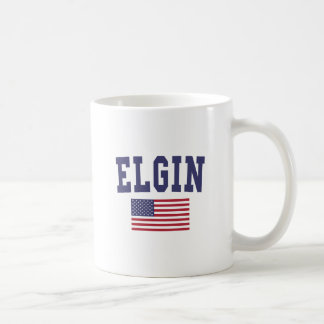 Bandera de Elgin los E.E.U.U. Taza