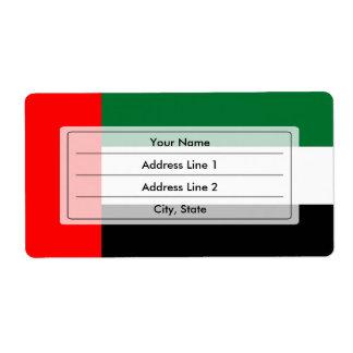 Bandera de Emirati Etiqueta De Envío