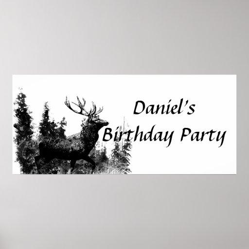 Bandera de encargo de la fiesta de cumpleaños del  póster