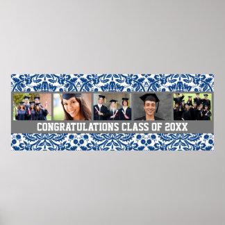 Bandera de encargo de la foto de la graduación de  póster