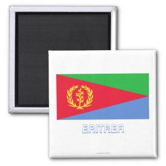 Bandera de Eritrea con nombre Imán Cuadrado