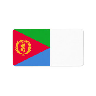 Bandera de Eritrea Etiquetas De Dirección