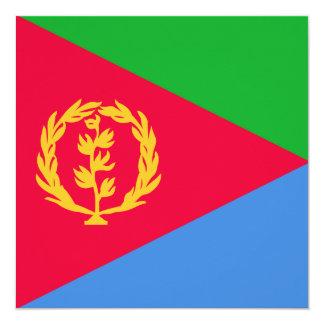 """Bandera de Eritrea Invitación 5.25"""" X 5.25"""""""